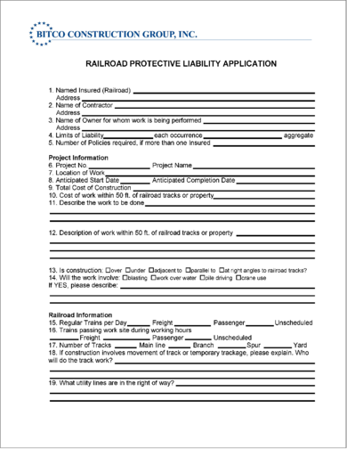 railroad-protective-liability-application