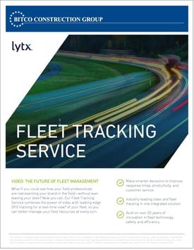 Fleet Tracking Service Brochure - ORCIG