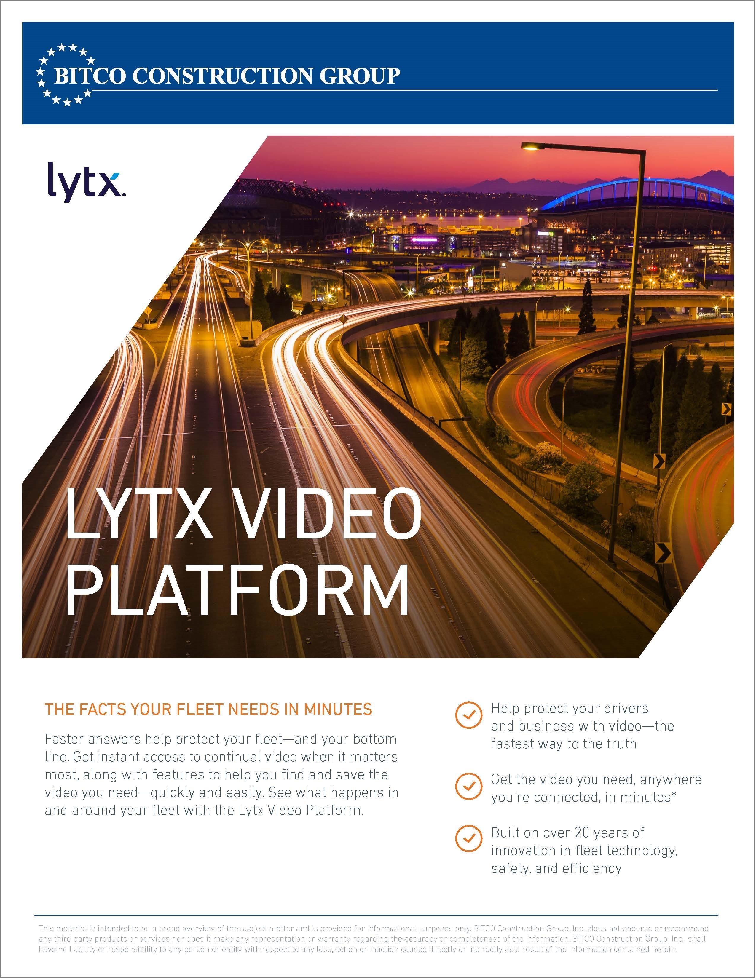 Lytx Video Platform brochure - ORCIG