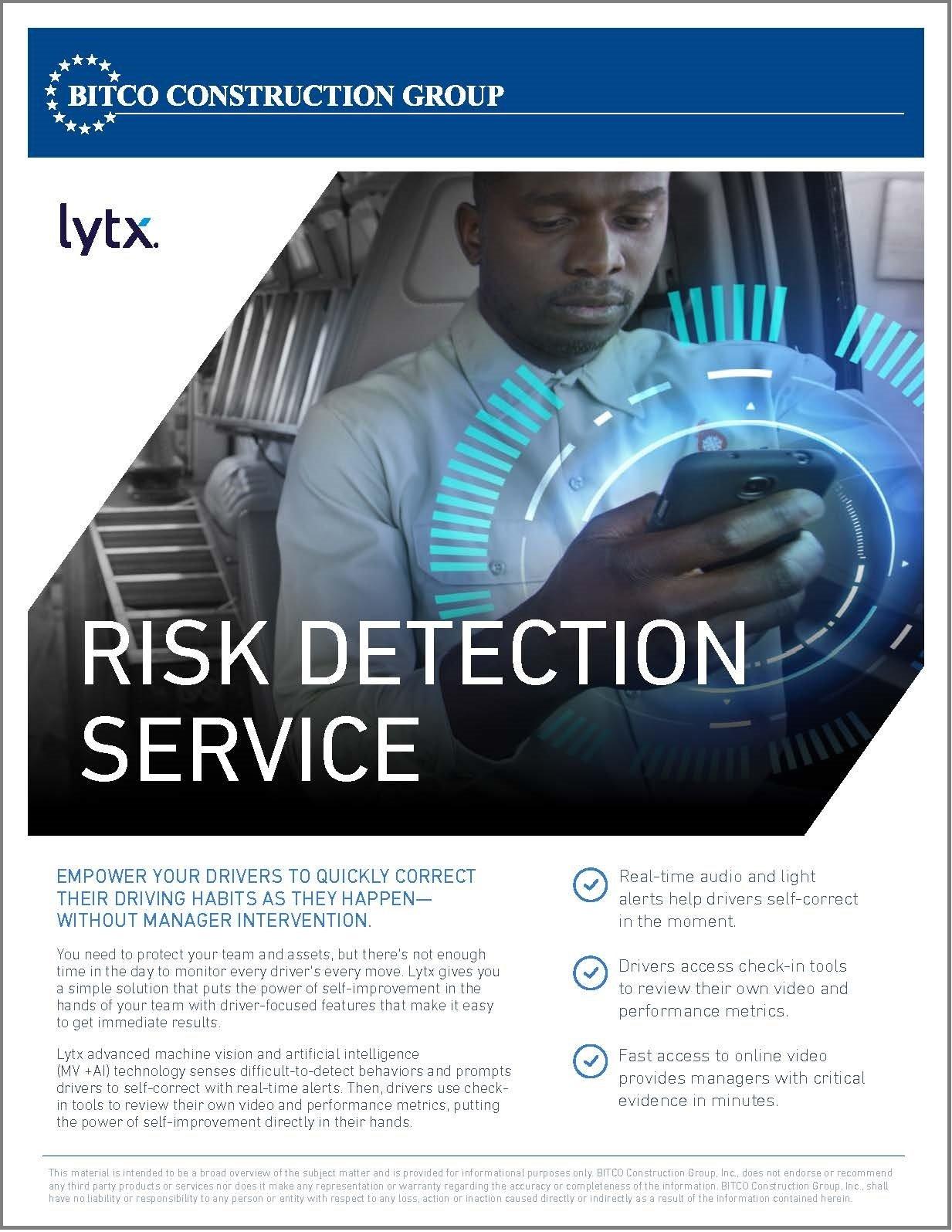 Risk Detection Service brochure - ORCIG